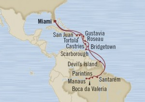 Cruise from USA to Amazon